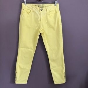 TOMMY HILFIGER Skinny Ankle Crop Yellow Jeans